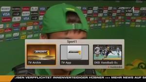 Sport1 interaktive Auswahl