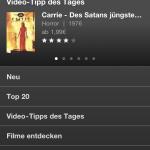 iPhone Programm Manager 3.0 Videoload Unterstützung