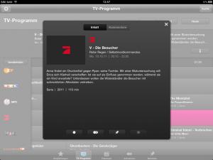 iPad Programm Manager 3.0 Detailansicht