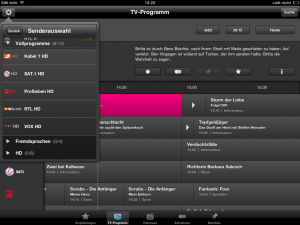 iPad Programm Manager 3.0 - Entertain Sat