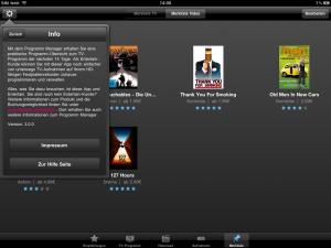 iPad Programm Manager 3.0 Einstellungen