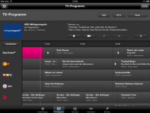 iPad Programm Manager 3.0 TV-Programm