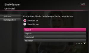 DVB-Untertitel konfigurieren