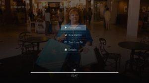 Pausenmenü Live-TV